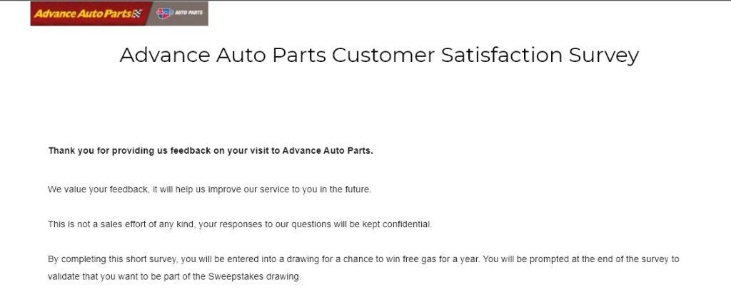 AdvanceAutoParts.com Survey