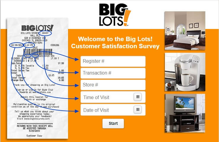 Big Lots Survey Www Biglotssurvey Com Win Gift Card