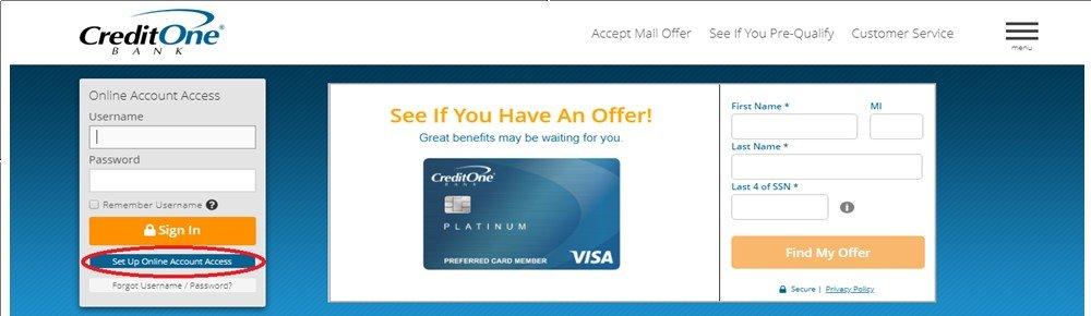 Enroll in Credit One