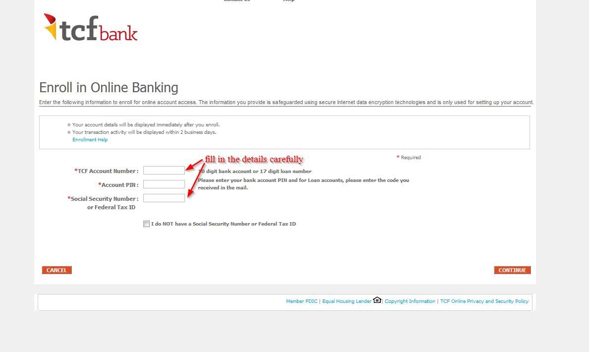 Enroll in TCFBank.com