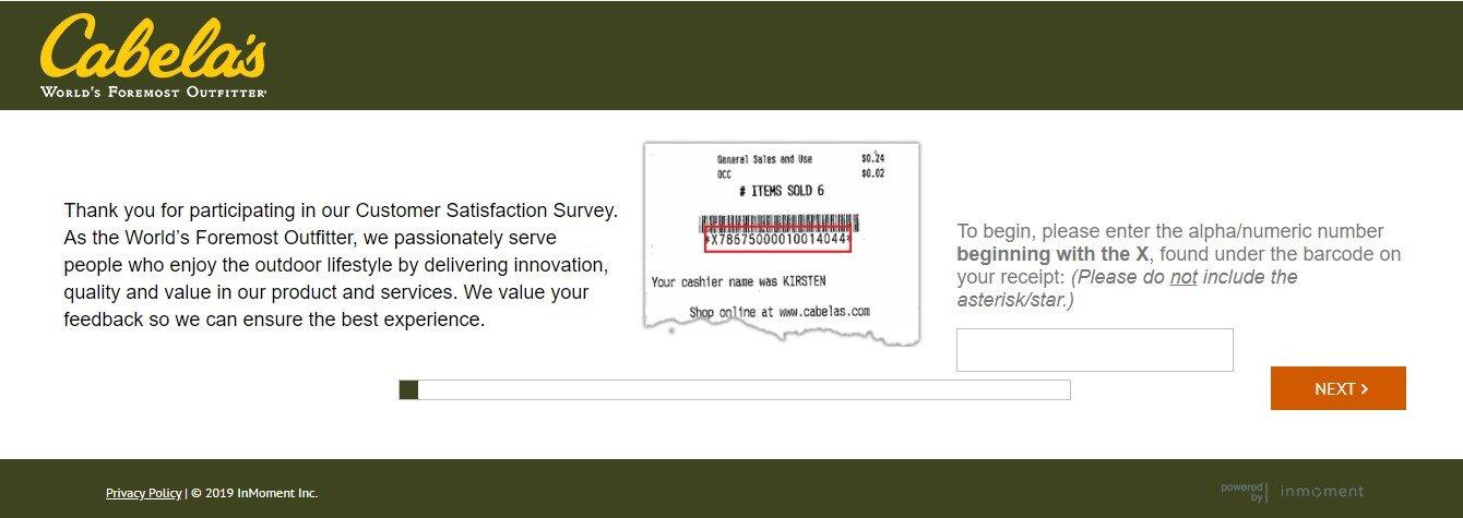 Cabelas.com Retail Survey www.cabelas.com/retailsurvey